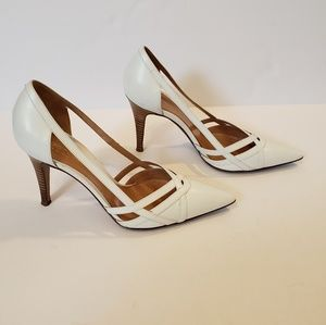 Sergio Rossi | white leather pointed pumps heels